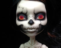 Skeleton Custom OOAK Monster High Doll Skelita Skull Scary Art Doll Halloween
