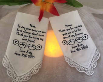 Two Personalized Handkerchiefs