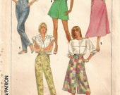 "An Easy-To-Sew Pants, Capris, Culottes, Shorts and Skirt Pattern for Women: Uncut - Sizes 12-14-16, Waist 26-1/2"" - 30"" • Simplicity 8027"