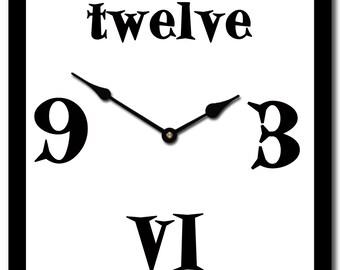 square funky fun wall clock