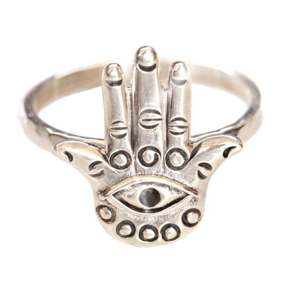 Hamsa Ring, Hamsa Hand, Boho Jewelry, Hamsa Jewelry, Sterling Silver Ring, Gypsy Ring, Bohemian Jewelry, Bohemian Ring, Personalised Ring