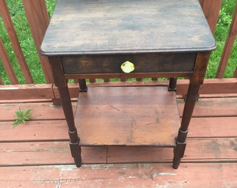 Shabby chic stained side table
