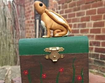 Moon gazing hare. Moon hare. Trinket box. Jewellery box. Moon hare box.
