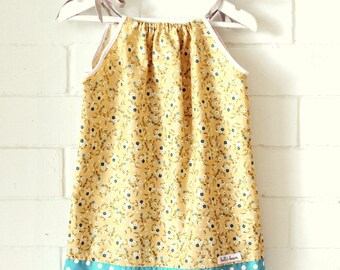 summer dress | yellow floral | toddler 18m