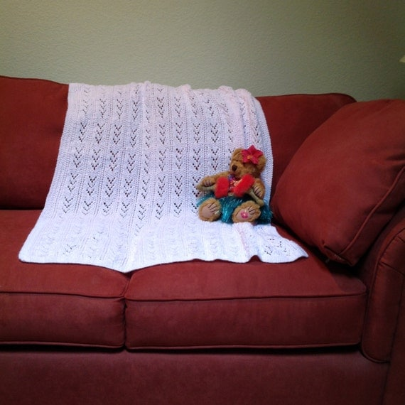 Hand Knitted Baby Throw