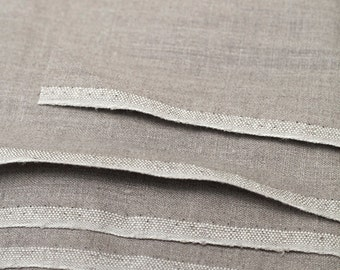 100% Natural Linen Flax grey  Fabric.  Linen fabric by the yard, meter. Classic Plain Linen Fabrics.  MORE AVAILABLE