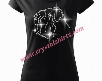 Black Russian Terrier rhinestone T-shirt