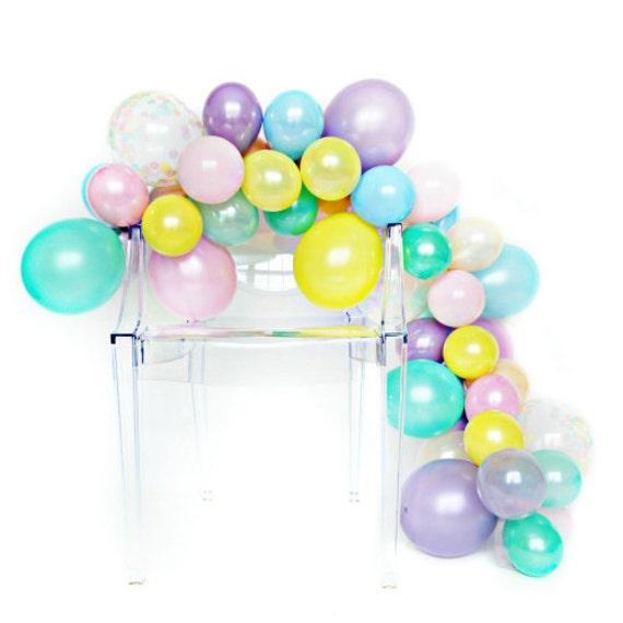 Diy balloon garland kit unicorn rainbow for Balloon decoration kit