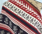 African Java Print Fabric--African Print Fabric--Tuareg Design Print--Red, Brown & Beige Stripes--African Fabric by the HALF YARD