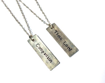 Time Lord and/or Companion bar necklace