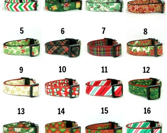 Christmas Dog Collar-  (Mini,X-Small,Small,Medium ,Large or X-Large Size)- Adjustable