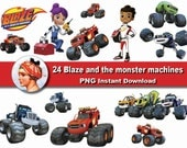 24X Blaze and the monster machines clipart png - printable Digital Clipart Graphic Instant Download