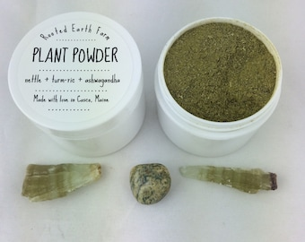 Organic Plant Powder - smoothie powder - organic supplement - supplement powder - herbal supplement - plant medicine - herbal powder