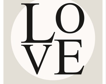 "Printable Typography ""Love"" Print"