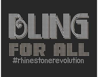 BLING FOR ALL #rhinestonerevolution Rhinestone Tee
