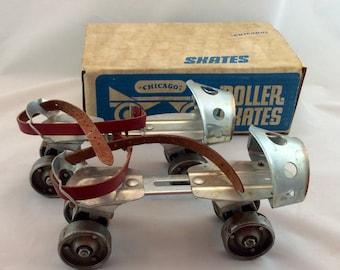Vintage Metal Roller Skates  /Vintage Skates/Chicago Metal Skates, Easy On Junior Skates