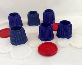 Vintage Tupperware Jello Molds, Little Tupperware Jello Molds