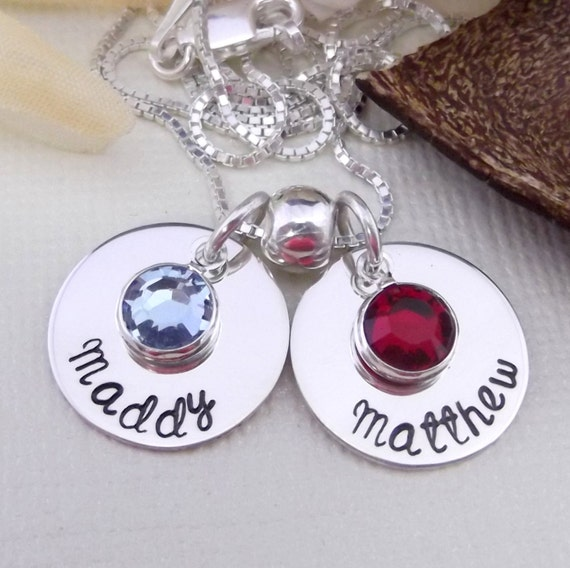 Hand Stamped Mommy Necklace- Mommy Charm Necklace-Mother's Day Gift- Mommy Jewelry- Mom Necklace- Personalized Hand Stamped Jewelry