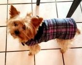 Pink Plaid Dog Coat