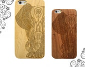 Tribal Mandala Hindu Elephant Laser Engraved wooden iPhone cases. Wooden Galaxy Cases Customized Phone Cases LW0250