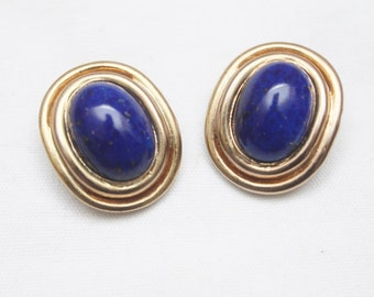 "80s Vintage ""AMINA"" Fancy Clip-On Earrings"
