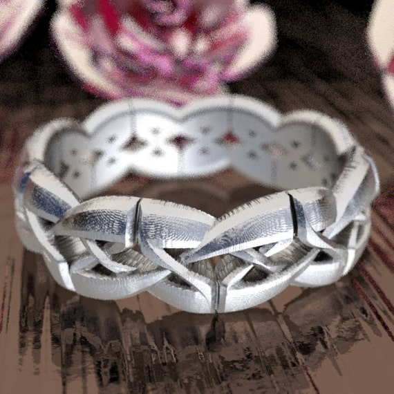 Celtic Cut-Through Trinity Knot Style Design in Sterling Silver, Made in Your Size CR-1073