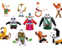 Kung Fu Panda 3 CAKE TOPPER Po Li Mei Mei Crane Monkey Viper 11 Figure Set Birthday Party Cupcakes Figurines Disney * FAST Shipping * Karate