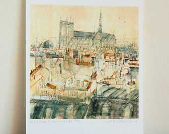 Notre Dame Wall Art notre dame painting   etsy