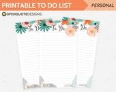 Filofax Personal Planner Inserts, Printable Planner Inserts, Printable To Do List, Filofax Inserts, Filofax Printable Note Paper