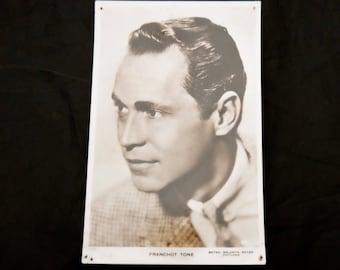 Vintage 1940s Franchot Tone Postcard, Franchot Tone Photo, Photograph Postcard, Milton Postcard Series, Cinema Postcard, Cinema Photograph