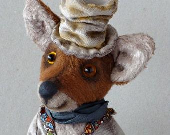 "Artist teddy bear fox OOAK ""Albert"""