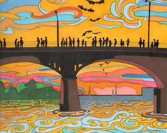 "11x14"" Congress Bridge, Austin Print"