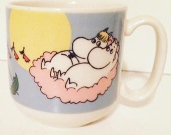 Arabia Finland Moomin Mug - Moomin children's cup - Flying Moomins character design - Moominpappa - FillyJonk
