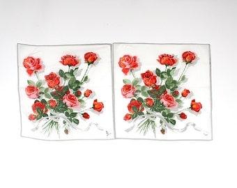 Vintage Handkerchiefs - Mother of the Bride Handkerchief - Mother of the Groom Handkerchief - Cotton Handkerchief - Wedding Handkerchiefs -