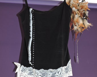 Upcycled black top