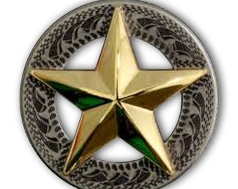 3-D Texas Star Concho - 2 Sizes