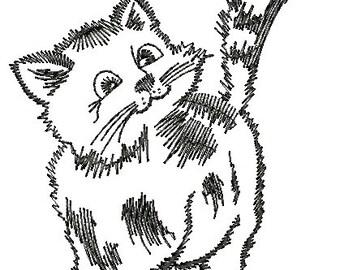 kitten, low stitch count - Machine Embroidery designs