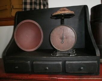 Table top Crock Holder/cookbook holder/primitive display