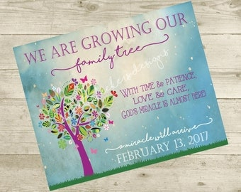 Growing Our Family Treet/Miracle Pregnancy Announcement (8x10) - DIGITAL FILE