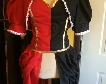 Steampunk Harley Quinn Cosplay Costume: Full costum, Custom corset