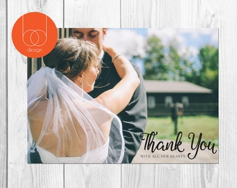 Thank you Wedding Photo card