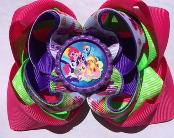 My little Pony hair bow 4 1/2 inches