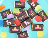 Fiesta Party Mini Candy Bar Wrappers - Fiesta Printables - Mini Chocolate Wrappers - INSTANT DOWNLOAD