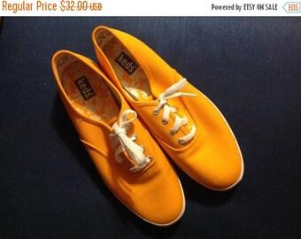 25% off sale Vintage Keds Sneakers Orange Keds Vintage Tennis Shoes Size 8