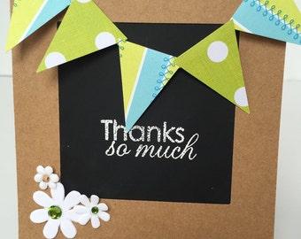 Thank You Card for Teachers, Handmade Thank You Card, Chalkboard Card, Chalkboard Easel, School Card, Teacher Card, Teacher Gift