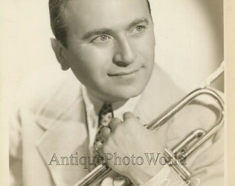 Charlie Spivak bandleader jazz trumpet player antique music photo