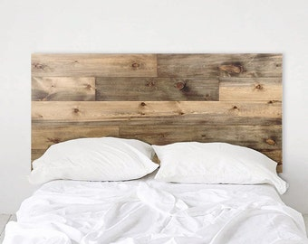 Weathered Barn Wood Rustic Headboard - Ol' Plank - Handmade In Chicago.