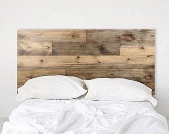 Weathered Barn Wood Rustic Headboard - Ol' Plank - Handmade In Chicago.