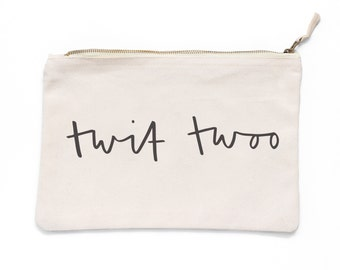 Twit Twoo Make Up Pouch - Canvas pouch - cosmetic pouch