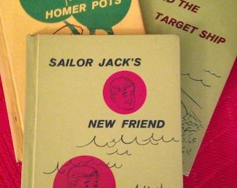 Three Vintage Sailor Jack Books